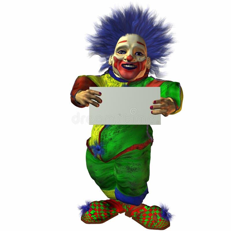 znak klaunów ilustracja wektor