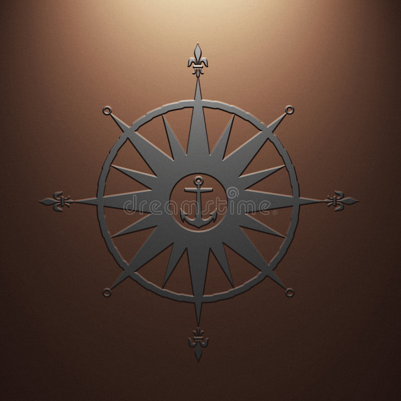 znak kompasu ilustracja wektor