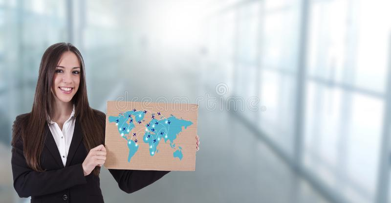 Znak loty przy lotniskiem obrazy royalty free
