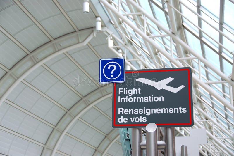 znak na lotnisko obraz stock