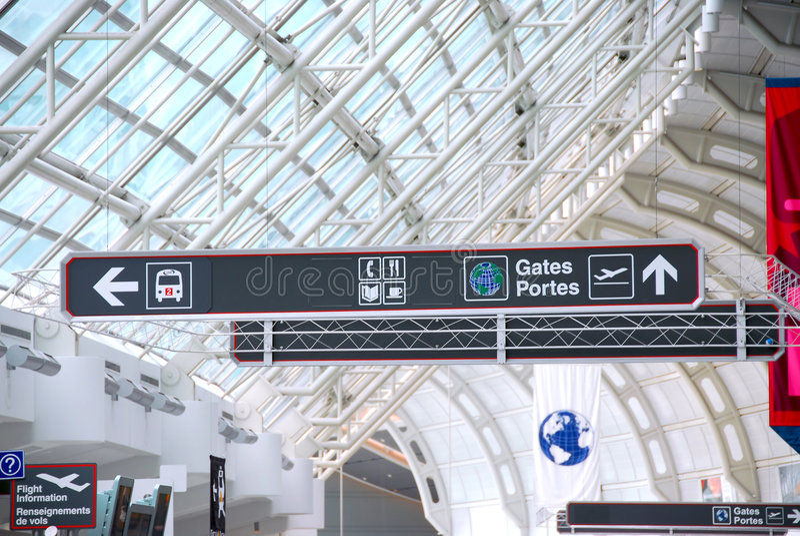 znak na lotnisko obraz royalty free