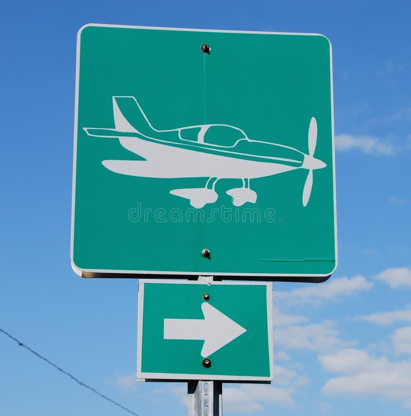 znak na lotnisko zdjęcie royalty free