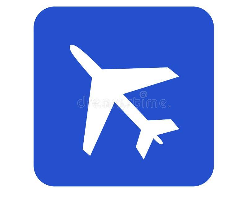 znak na lotnisko ilustracji