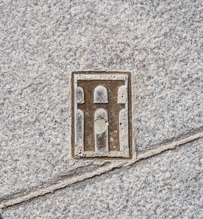Znak na Segovia mieście, Hiszpania obrazy stock