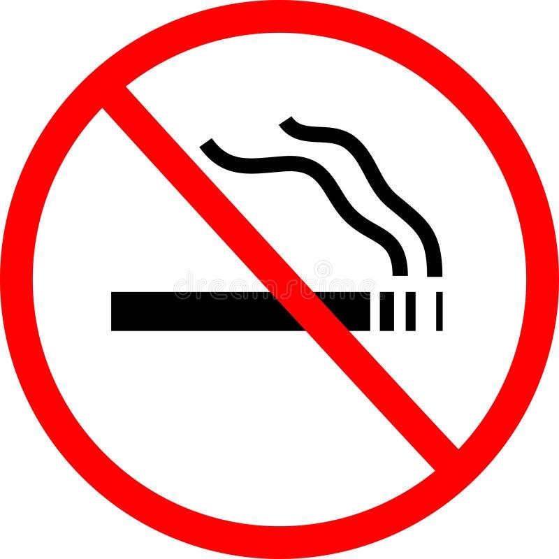 znak nie palić royalty ilustracja