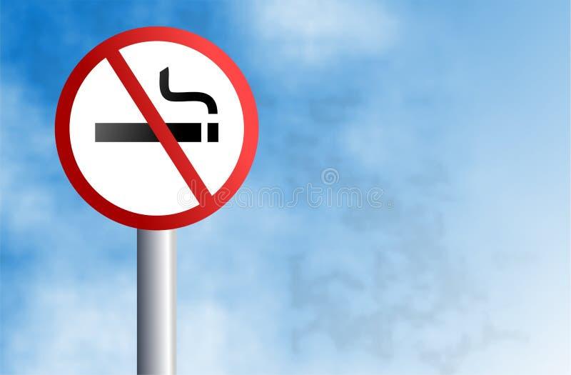 znak nie palić ilustracja wektor