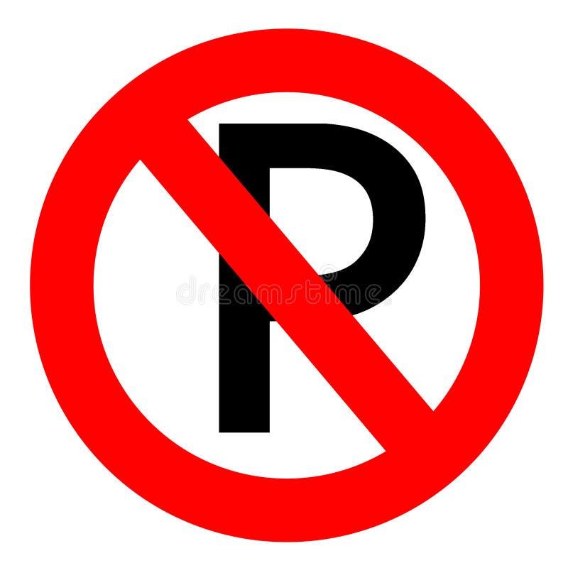 znak nie parkować ilustracja wektor