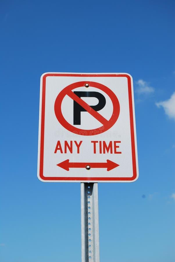 znak nie parkować zdjęcie stock