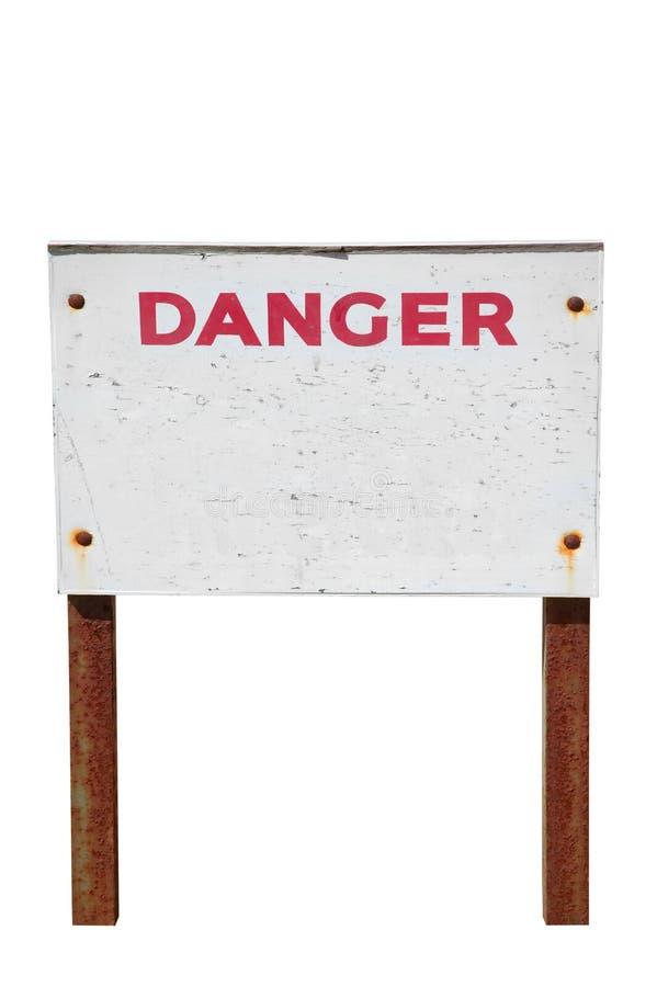 znak niebezpieczeństwa odizolowane ostrzeżenie zdjęcia stock