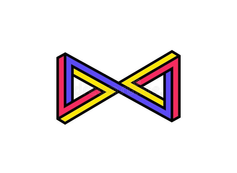 Znak nieskończoność, korporacyjny logo, symbol przygotowywa ikonę Płaska ilustracja odizolowywa na białym tle Emblemat royalty ilustracja