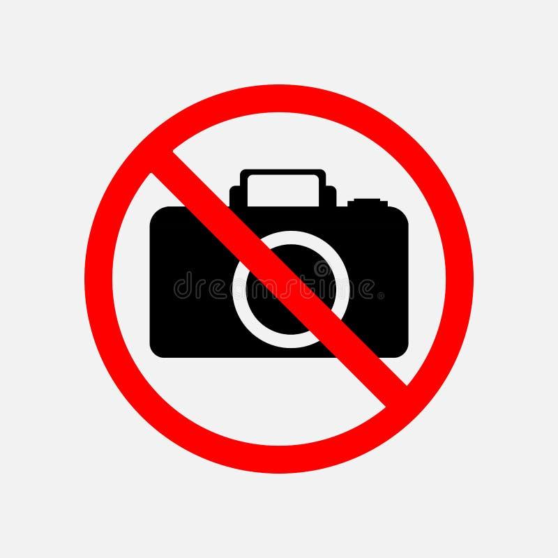 Znak no może fotografujący, żadny fotografia ilustracji