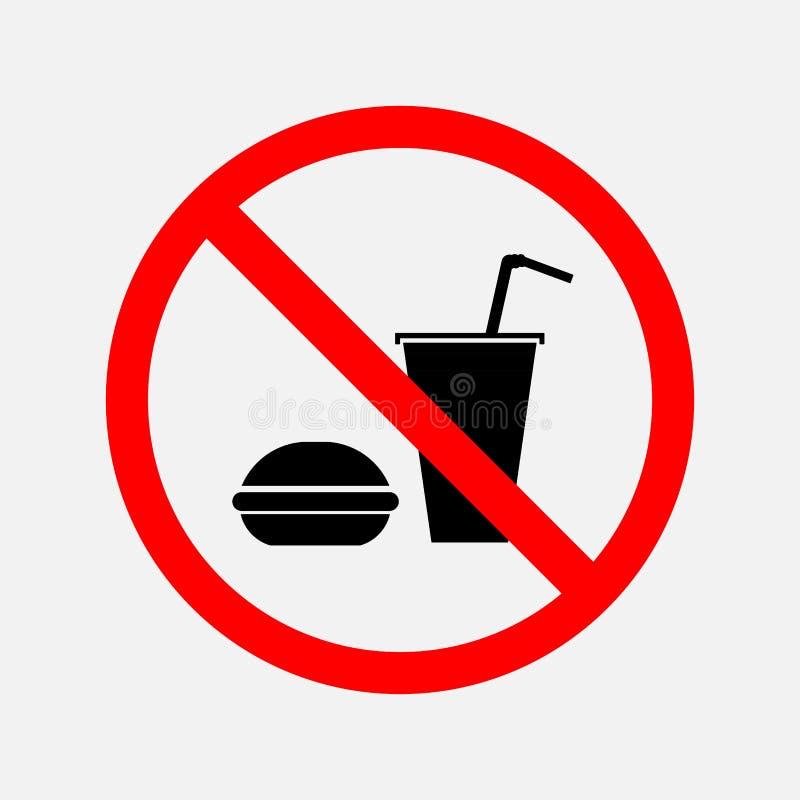 Znak no może jeść i pić ilustracji