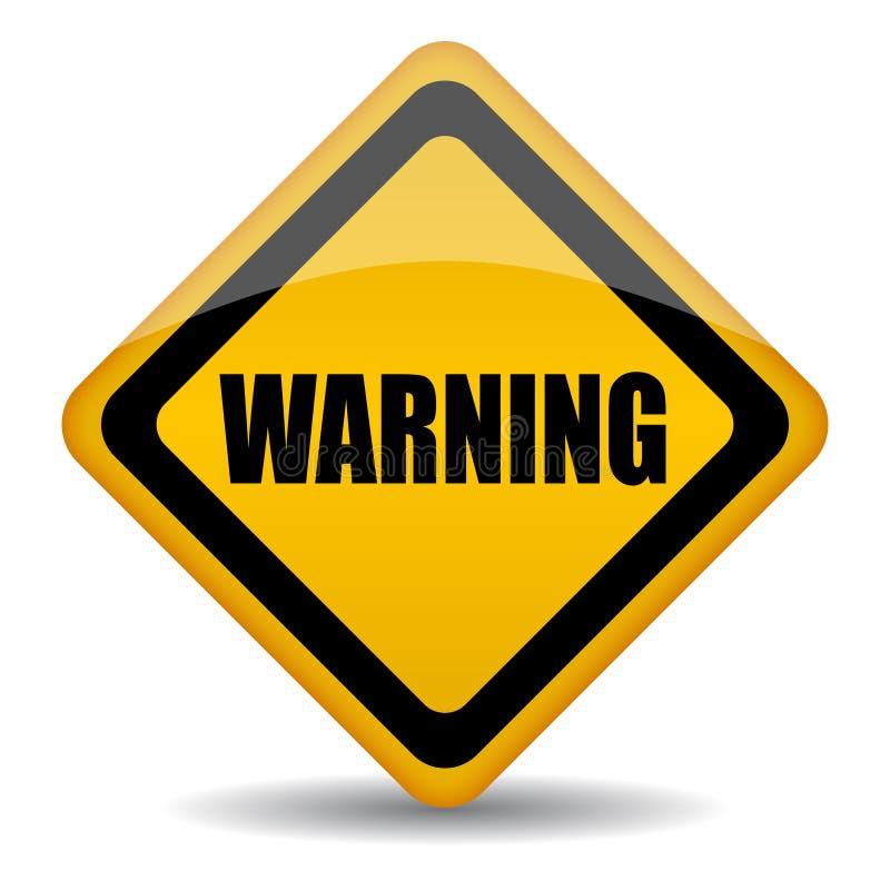 Znak ostrzegawczy royalty ilustracja