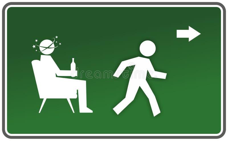 Znak ostrzegawczy ilustracji