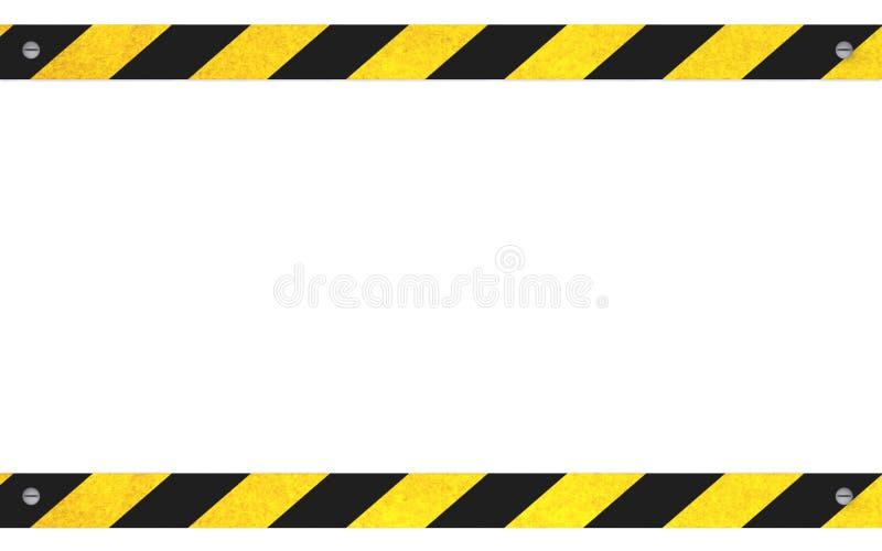Znak ostrzegawczy z kopii przestrzenią royalty ilustracja
