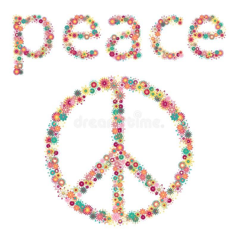 Znak pokój i pacyfizm. ilustracja wektor