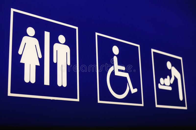 znak portów lotniczych do toalety obraz stock