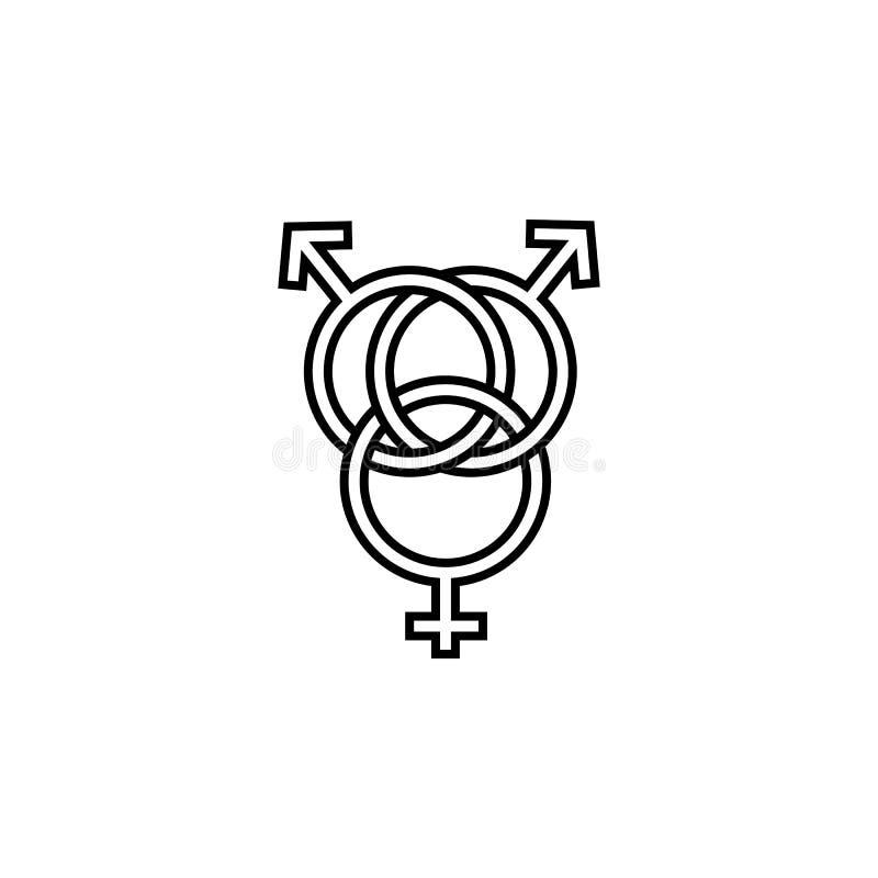 znak postawa trzy ikona Element LGBT ilustracja Premii ilości graficznego projekta ikona Znaki i symbolu collectio ilustracji