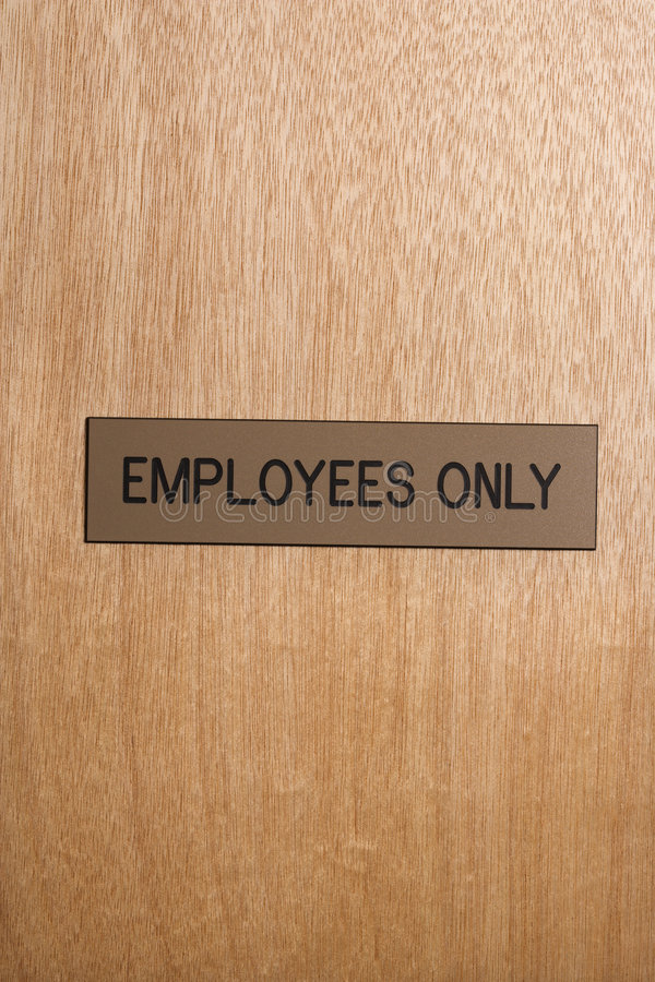znak pracowników zdjęcia stock