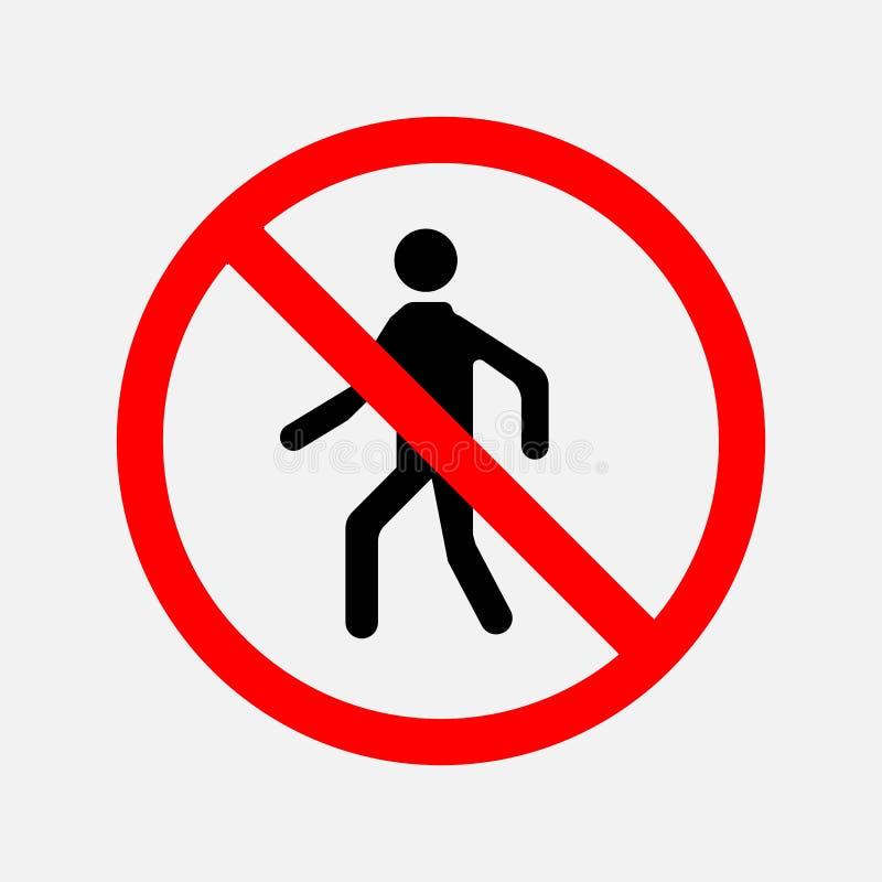 Znak przejście zakazuje ilustracja wektor
