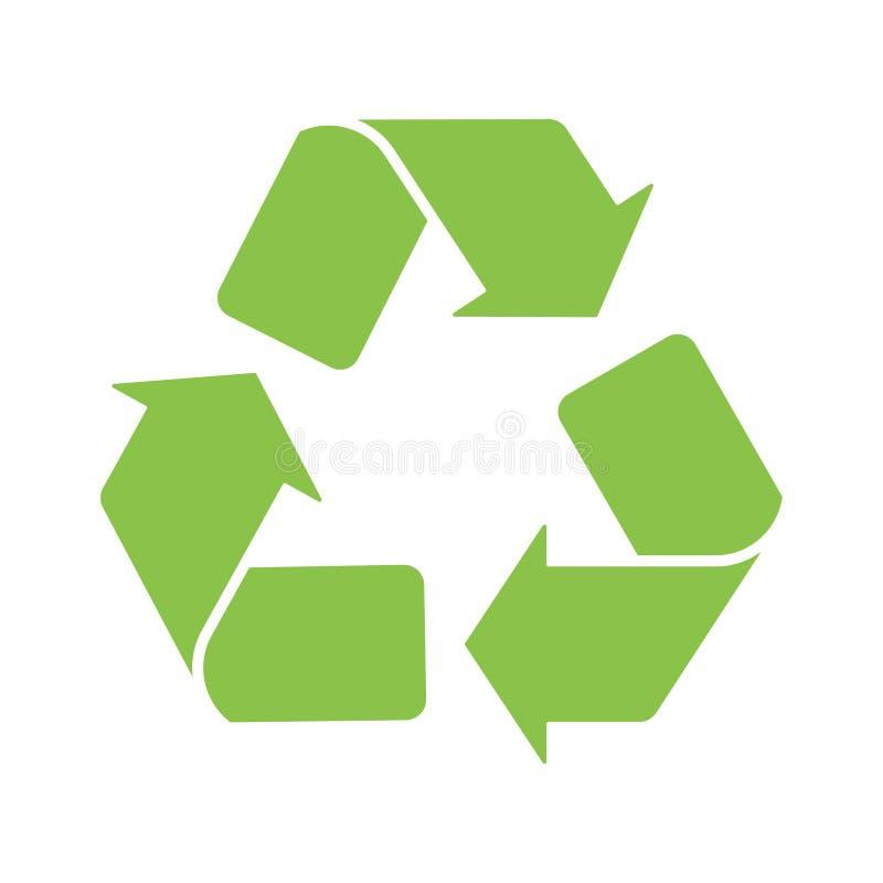 Znak przetwarza logo ikony zieleni bielu tło ilustracji