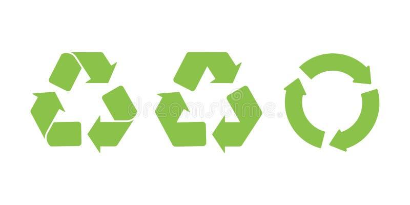 Znak przetwarza logo ikony zieleni bielu tło royalty ilustracja