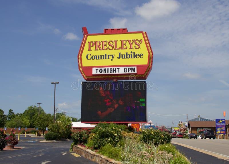 Znak przy Presley kraju jubileuszem zdjęcie royalty free