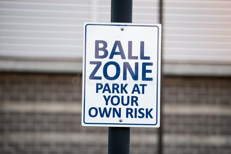 Znak przy stadionem baseballowym obraz royalty free