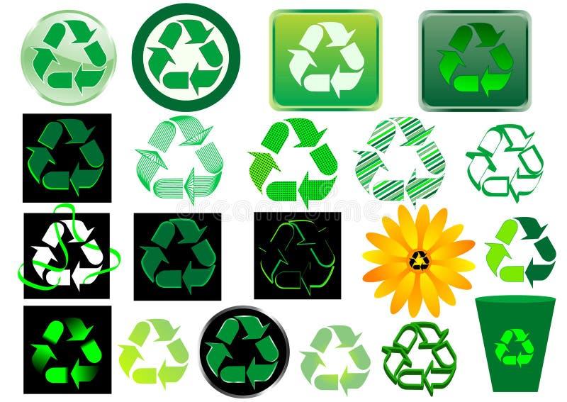 znak recyklingu royalty ilustracja