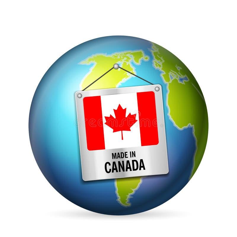Znak robić w Kanada royalty ilustracja
