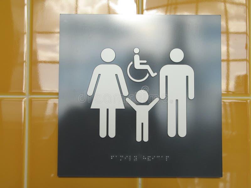 znak społeczeństwa do toalety zdjęcie stock