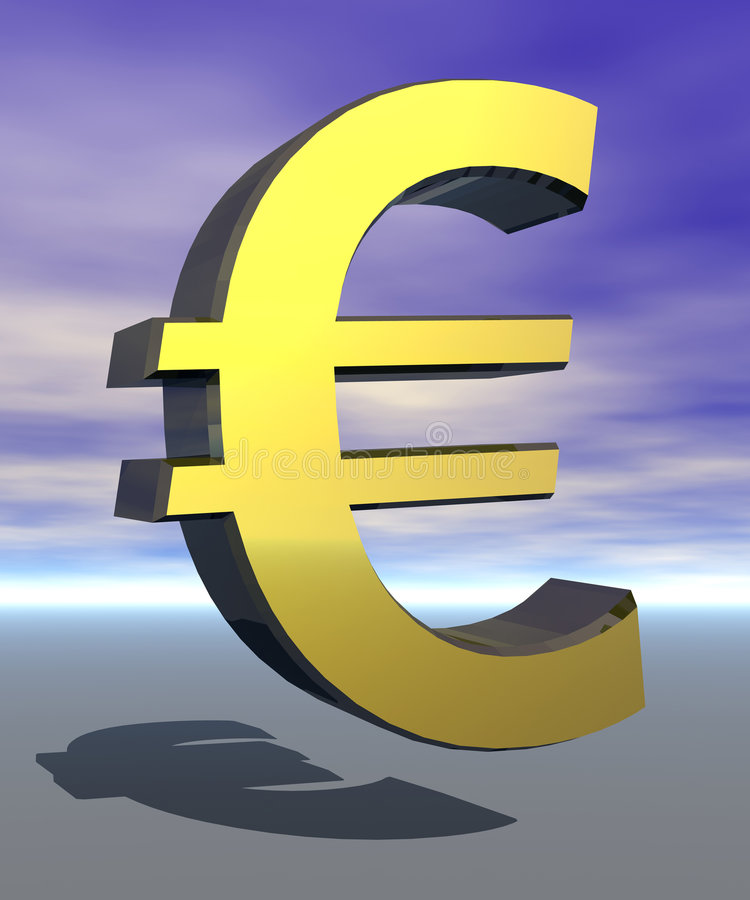 znak symbol euro ilustracji