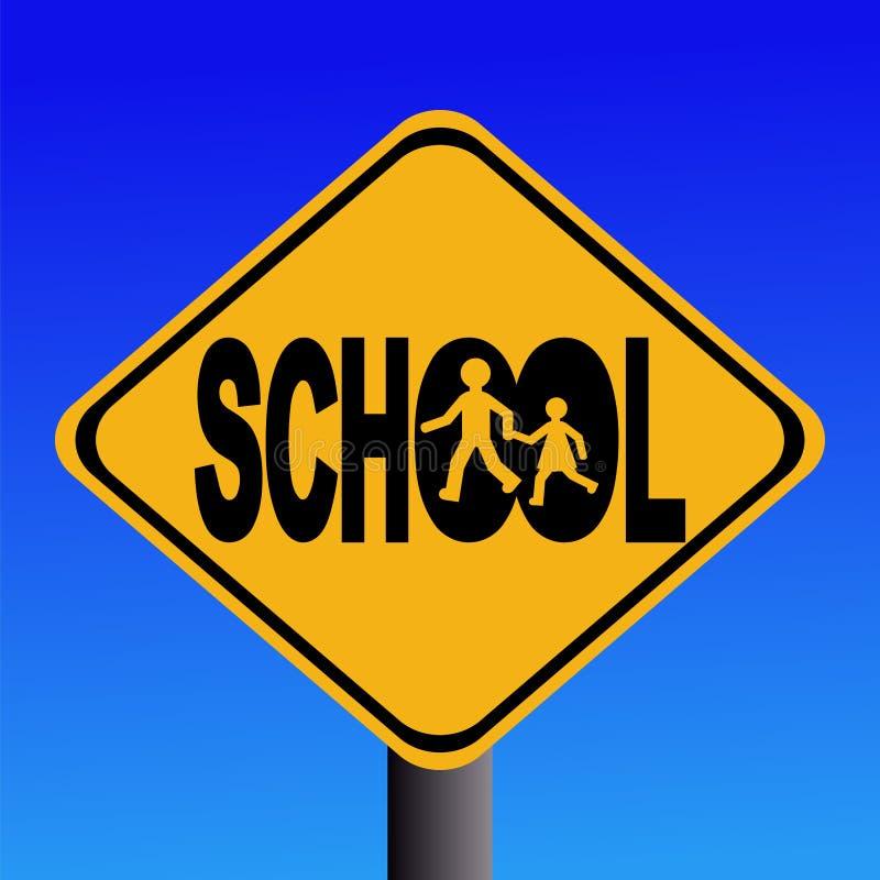 znak szkolny ostrzeżenie ilustracji
