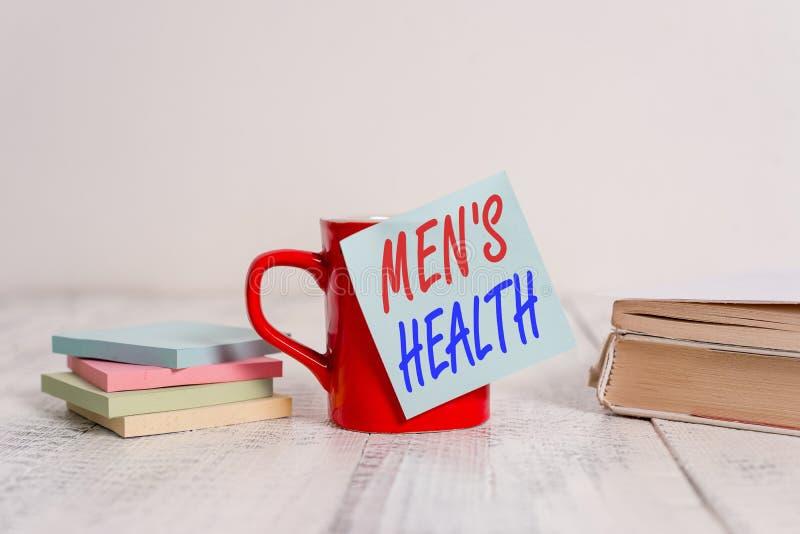 Znak tekstowy przedstawiający zdrowie mężczyzn Koncepcyjna fotografia: stan całkowitego samopoczucia fizycznego i psychicznego mę zdjęcia royalty free