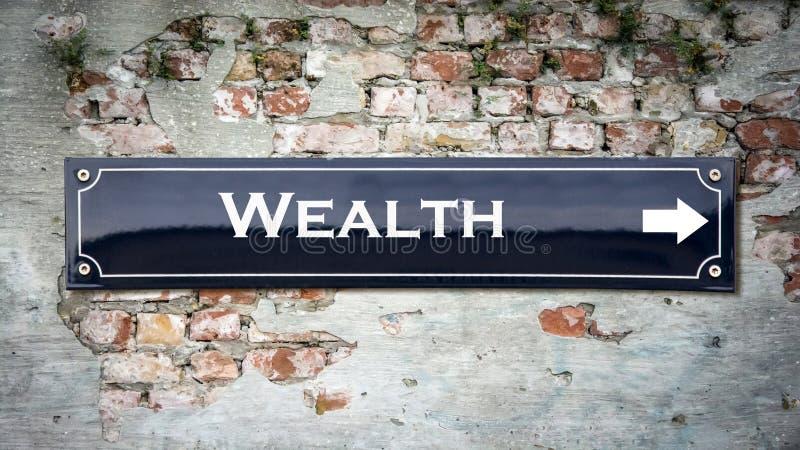Znak Uliczny bogactwo zdjęcia stock