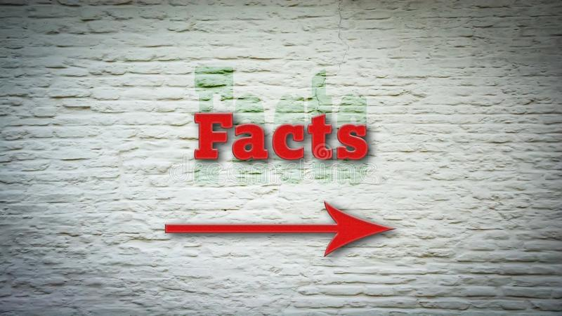 Znak Uliczny fact royalty ilustracja