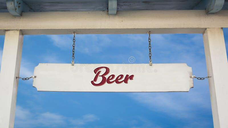 Znak Uliczny piwo obraz stock
