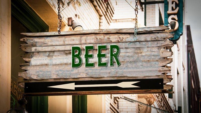 Znak Uliczny piwo obrazy royalty free