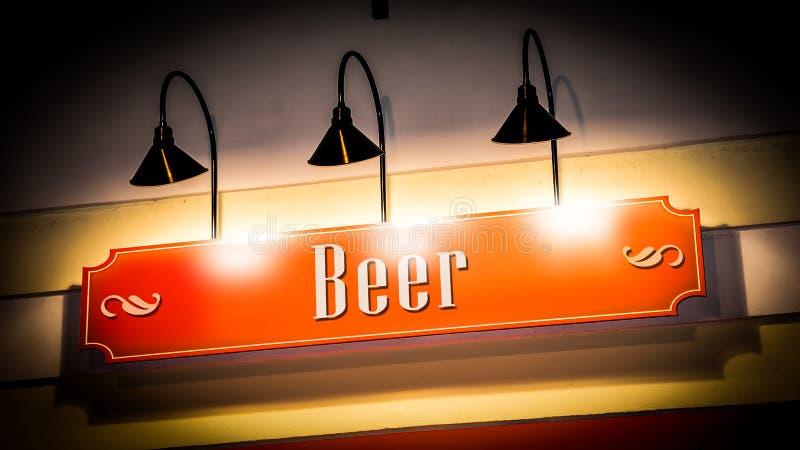 Znak Uliczny piwo zdjęcia stock