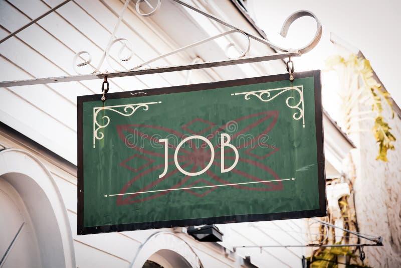 Znak Uliczny praca zdjęcia royalty free