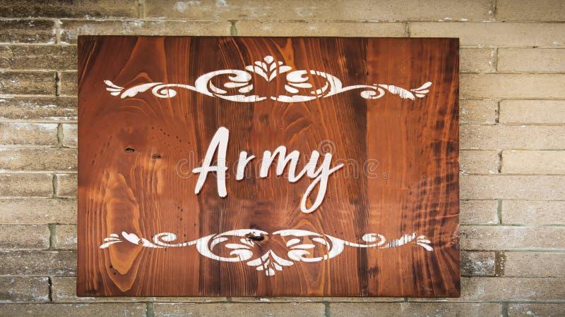 Znak Uliczny wojsko royalty ilustracja