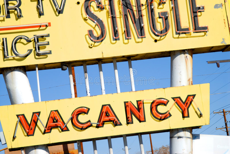 znak vacany motelu obraz stock
