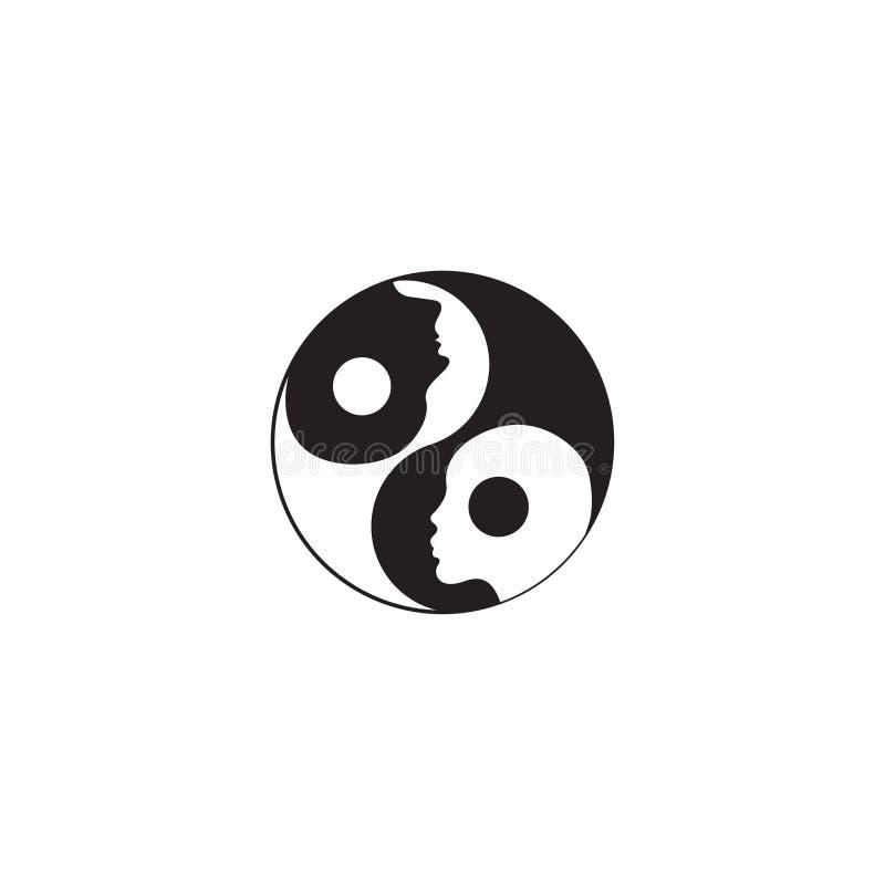 znak yin Yang royalty ilustracja