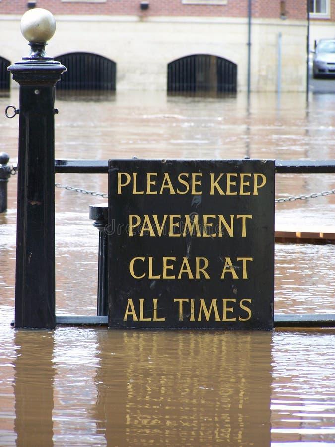 znak zalanych York obraz stock
