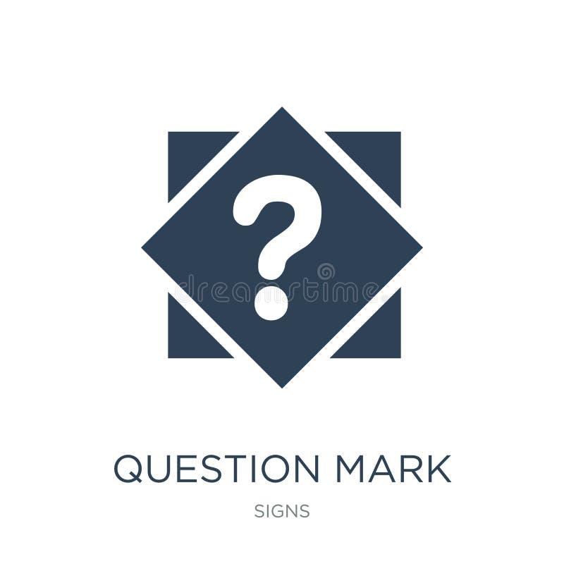 znak zapytania guzika ikona w modnym projekta stylu znak zapytania guzika ikona odizolowywająca na białym tle znak zapytania guzi ilustracja wektor
