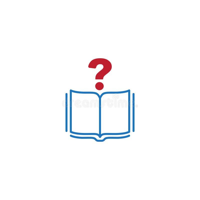 Znak zapytania i książki ikona ilustracji