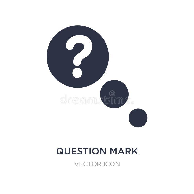 Znak zapytania ikona na białym tle Prosta element ilustracja od UI pojęcia ilustracja wektor