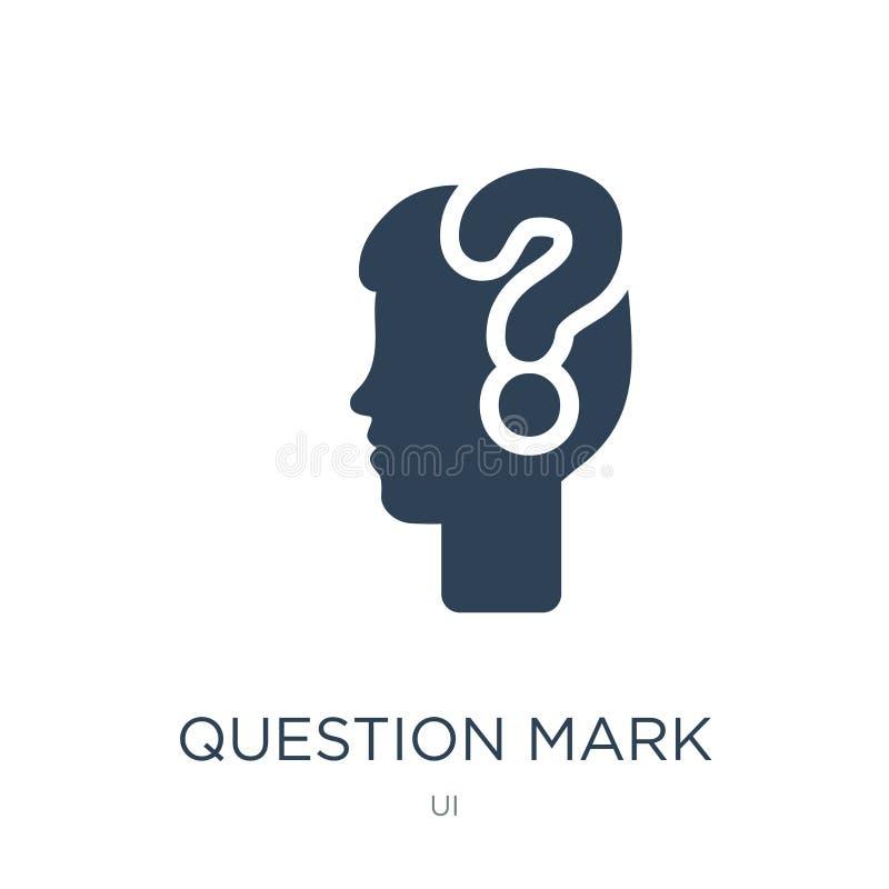 znak zapytania ikona w modnym projekta stylu Znak Zapytania ikona Odizolowywająca na Białym tle znak zapytania wektorowa ikona pr ilustracja wektor