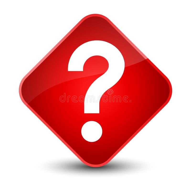 Znak zapytania ikony elegancki czerwony diamentowy guzik ilustracja wektor