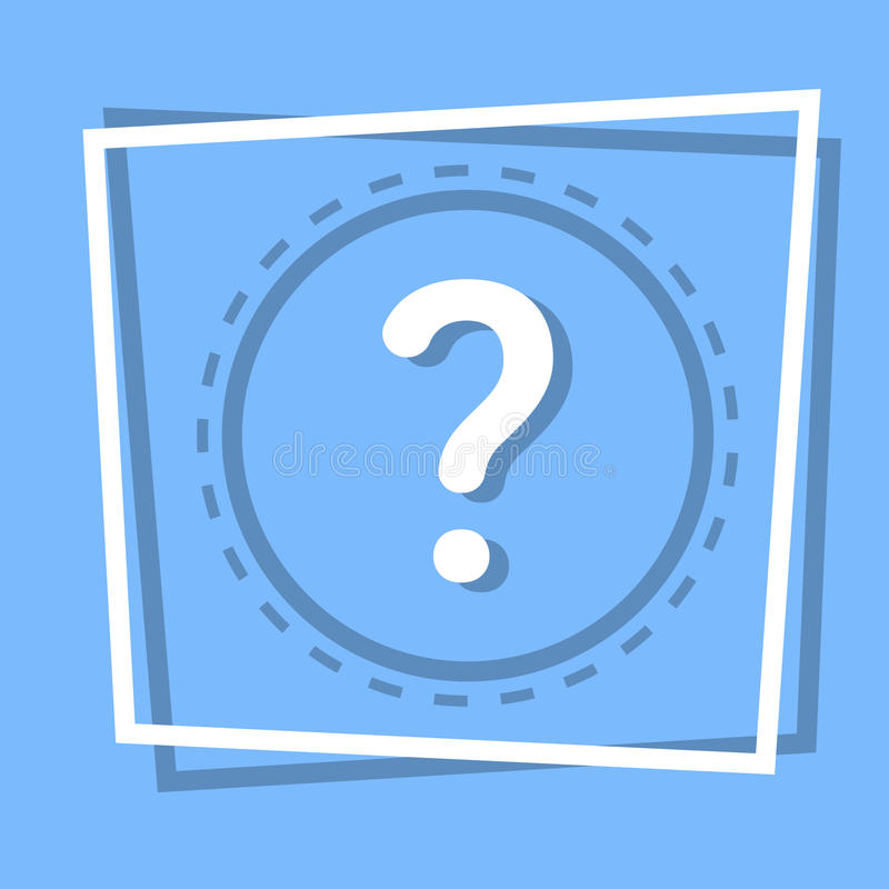Znak Zapytania ikony pomocy sieci Ewidencyjny guzik ilustracji